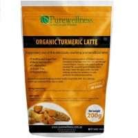 a yellow bag of turmeric powder