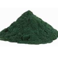 a dark green powder