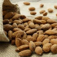 Almonds smoked