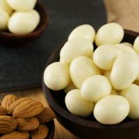 yogurt coated almonds